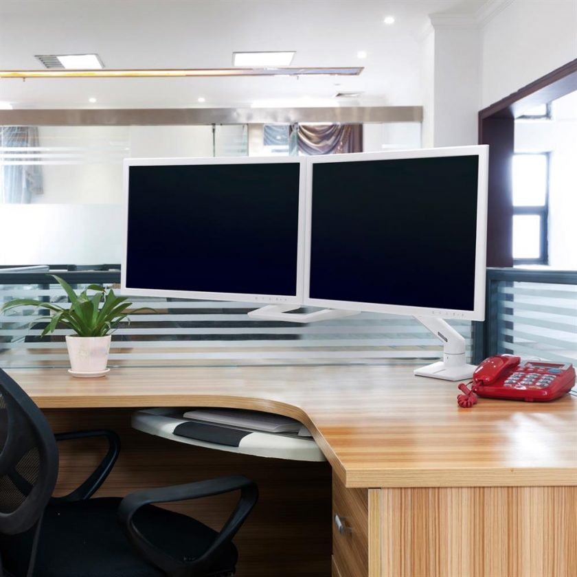 Ergotron Monitor Arm Dual workstation office space Australia