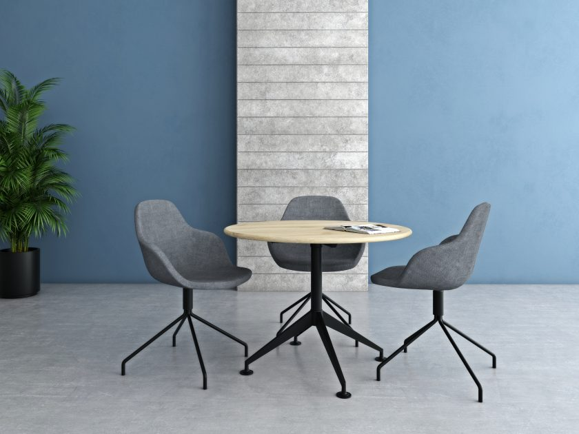 Round table Breakout office desk table supplier Australia