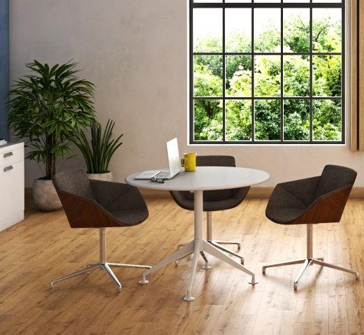 Breakout office round desk table supplier Australia