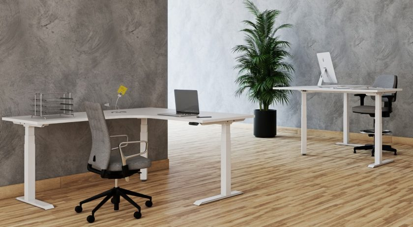 Adjustable desk Vision three motor electric Workstation supplier Australia