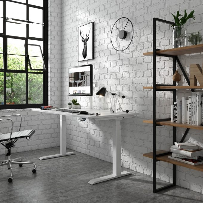Adjustable Ergonomic desk workstation Vision two motor leg supplier Australia