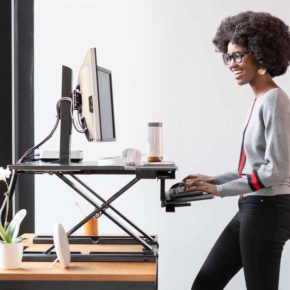 sit stand desk melbourne, desktop convertor