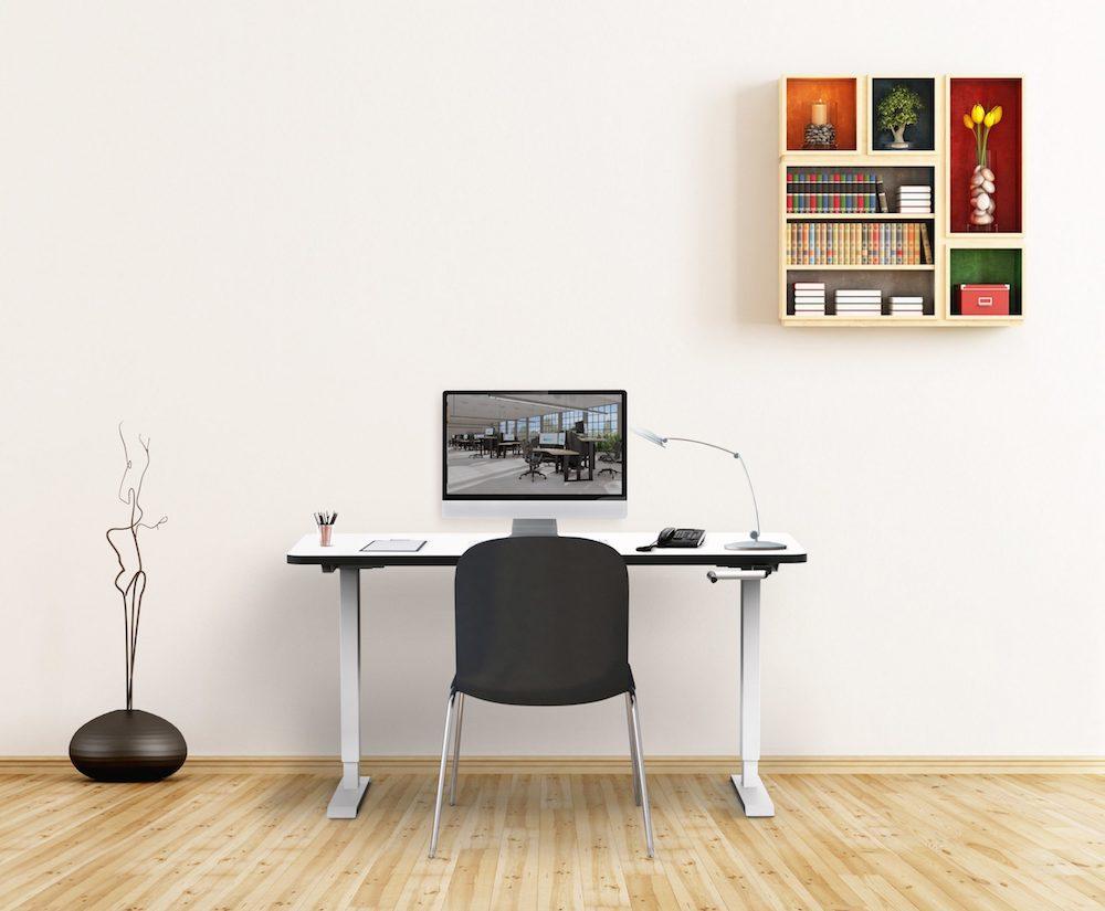 elevar manual adjustable standing desk, sit stand desk brisbane