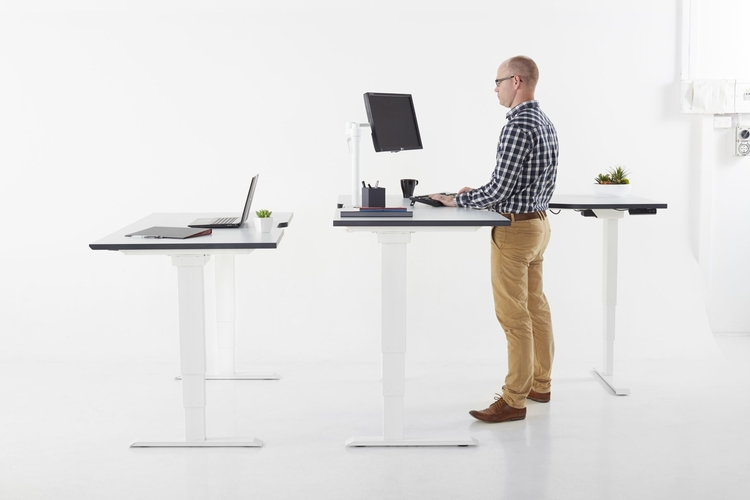 electric sit stand desk brisbane, commercial office furniture supplier